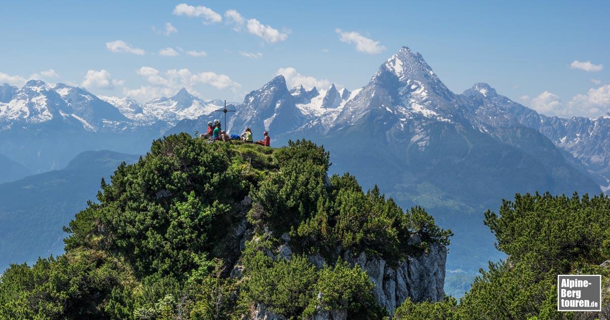 Klettersteig Hochthron : Rauher kopf berchtesgadener hochthron bergtour info